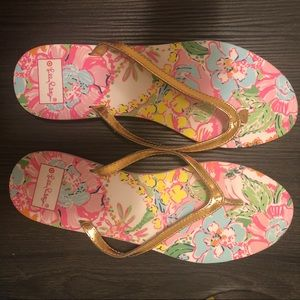 Lilly Pulitzer for Target flip flops size 10